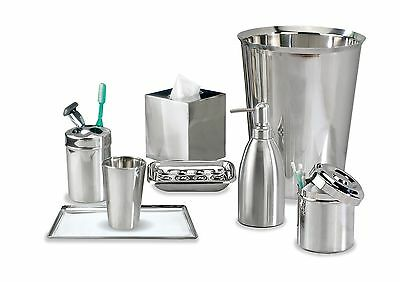nu steel Gloss Collection Bathroom Accessories Set 8-Piece
