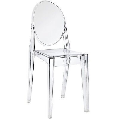 Nicer Furniture Set of 1 Philippe Starck Louis XVI Ghost Side Chair without A...