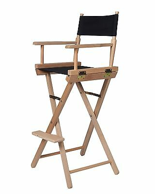 Trademark Innovations Director's Chair-Counter Height-Light Wood Black