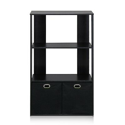 Furinno 3-Tier Organizer with Bin Drawers Espresso/Black