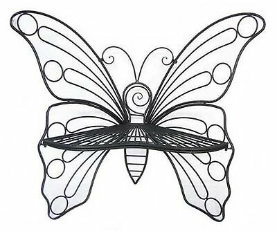 All Line Metal Garden Dcor-Butterfly Chair Antique Black Item Size: 45-Inch X...