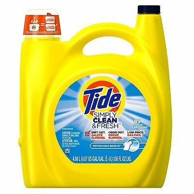 Tide Simply Clean & Fresh HE Liquid Laundry Detergent Refreshing Breeze Scent...
