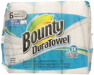 Bounty Duratowel Select-A-Size Paper Towels White 6 King Rolls