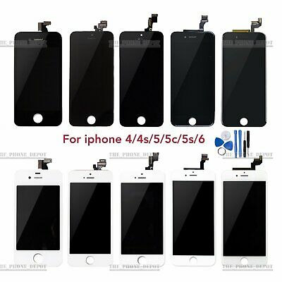 For iPhone 4 4S 5 5S 5C 6 Plus LCD Touch Screen Display Digitizer Assembly Lens