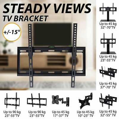 TV Wall Mount Swivel&Tilt Bracket LED/LCD/Plasma w/ Waterlevel Multi Models