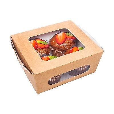 Restaurantware Medium Cafe Vision Collection Bio Lunch Box with Two Windows (...