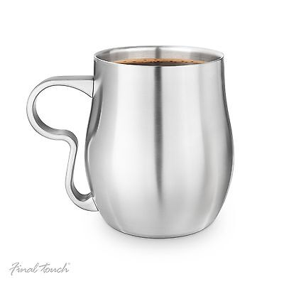 Final Touch Curvy Cup Stainless Steel Finish