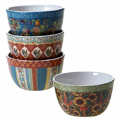 Certified International 25804SET/4 French Country Ice Cream Bowls (Set of 4) ...