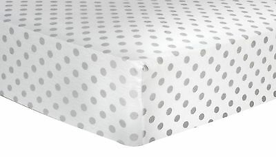 Trend Lab Gray Dot Deluxe Flannel Fitted Crib Sheet