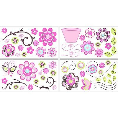 Cocalo Taffy Wall Appliques Pink/White 1-Pack