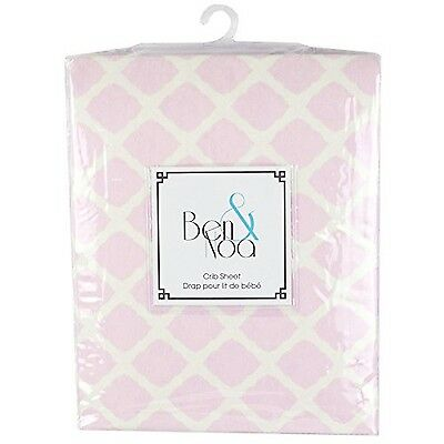 Kushies Baby Flannel Fitted Crib Sheet Pink Lattice