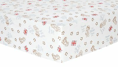 Trend Lab Paddington Bear Deluxe Flannel Fitted Crib Sheet