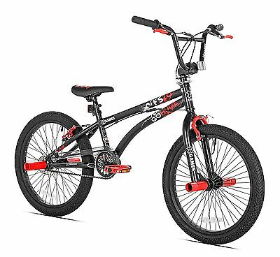 X-Games FS-20 BMX/Freestyle Bicycle 20-Inch Black Red Black/Red
