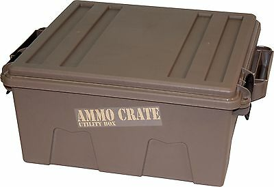 """MTM ACR8-72 Ammo Crate Utility Box with 7.25"""" Deep Large Dark Earth"""