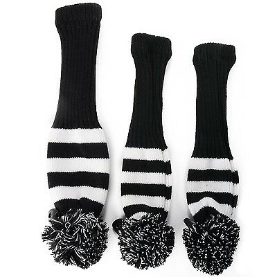 XCSOURCE 3x Golf Club Knitted Headcover Head Covers For Titleist Taylormade O...