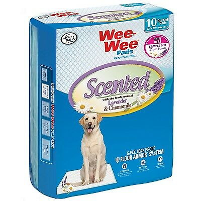 Four Paws 100521635 Wee-Wee Scented Lavender/Chamomile Dog Training Pads 10-P...