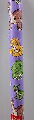 LAND BEFORE TIME GIFT WRAPPING PAPER 5 Feet Littlefoot Ducky Party Wrap 1997 NEW