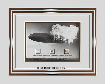 THE HINDENBURG speck of it's fabric skin, duralumin and envelope that FLEW ON IT