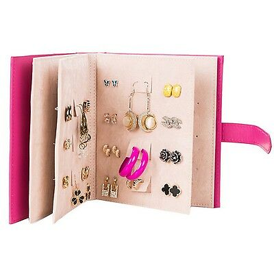 Jewelry Storage Case Organizer Little Book of Earrings Small Book for Keeping...
