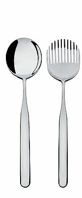 "Alessi ""Collo-alto"" Salad Set in 18/10 Stainless Steel Mirror Polished Silver"