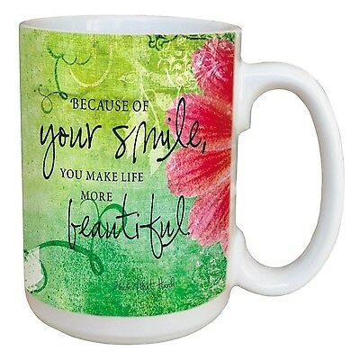 Tree-Free Greetings 45473 Inspiring Quote Your Smile Ceramic Mug with Full-Si...