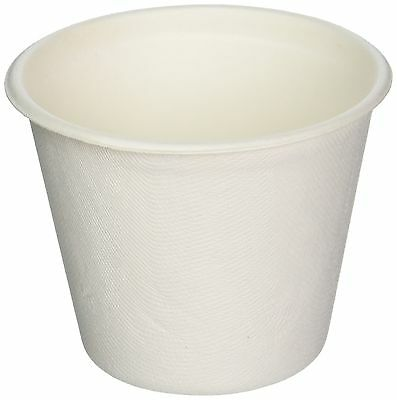 Restaurantware Collezione Pulpa Bagasse Soup Cup (100 Count Box) 15-Ounce White