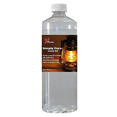 Firefly Candle and Lamp Oil - 32 oz - Smokeless & Odorless - Simply Pure - Ul...