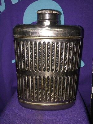 VINTAGE ANTIQUE 1920's Universal Silver Plated Hip Flask Mint