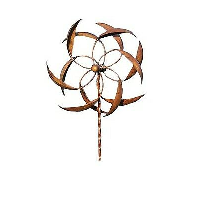 Ancient Graffiti 15-Inch Staked Feather Kinetic Spinner Large