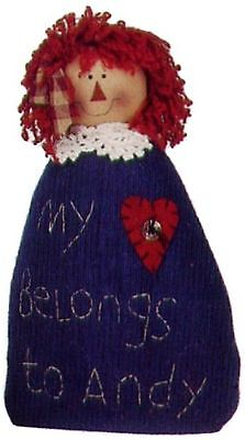 Craft Outlet Raggedy Anne Doll 9.5-Inch