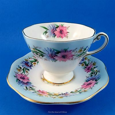 "Beautiful Foley ""Cornflower"" Cup and Saucer"