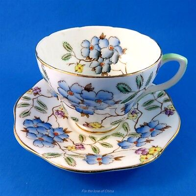 "Handpainted Chintz Foley ""Springdale"" Cup & Saucer"