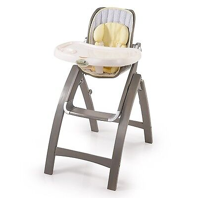 Summer Infant Inc. Summer Infant Bentwood High Chair Chevron Leaf Grey