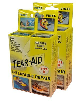 Tear-Aid Repair Patches Type B Vinyl Inflatable Kit Yellow 1Pack