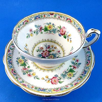 "Pretty Floral "" Ming Rose "" Foley Tea Cup and Saucer Set"