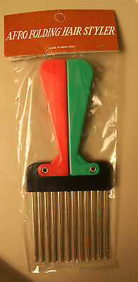 LOT of 50 Vintage Afro Folding Hair Styler Pick Pik Comb 1970's disco Sealed