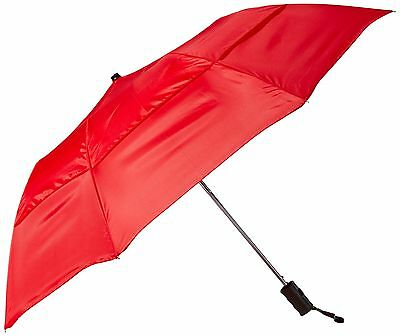 Stromberg Brand The Vented Grand Practicality Folding Umbrella Red One Size