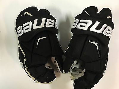 "STEVE DOWNIE Penguins BAUER Vapor APX 2 14"" PRO Game Used Worn Hockey Gloves 2"