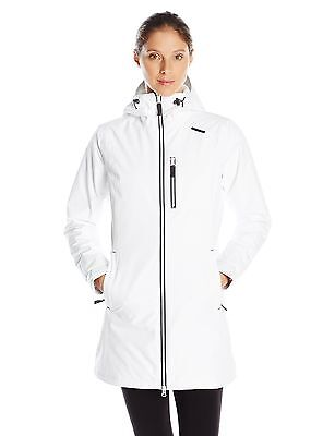 Helly Hansen Women's Long Belfast Insulated Winter Jacket White Small