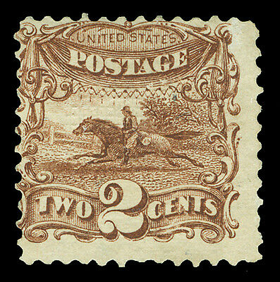 Scott 113 1869 2¢ Horse & Rider Pictorial Issue Unused Avg-Fine NG Cat $200