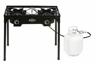 Stansport 2 Burner Cast Iron Stove with Stand (15 000 BTUs)