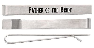 Tie Bar Wedding Gift for Father of the Bride Stainless Steel Tie Clip