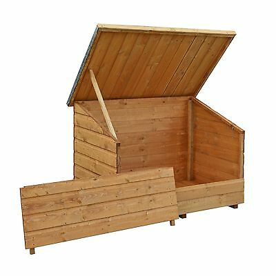 Bosmere GC1T Rowlinson Wooden Garden Chest with Lifting Lid Honey-Brown Finish