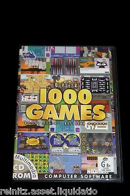Over 1000 Games for Windows PC 2001 Classic Old School Software Arcade Action