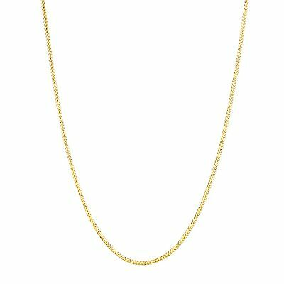 """14k Solid Yellow Gold Diamond Cut Round Wheat Chain Necklace .6mm 20"""""""