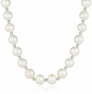 Sterling Silver Cultured Freshwater Pearl Necklace and Drop Earrings Jewelry ...