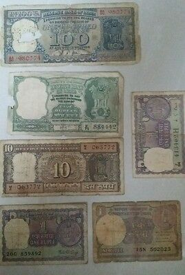 REPUBLIC INDIA SET OF NOTES INCL. Rs.100 DIAMOND ISSUE, NICE SET OF NOTES