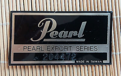 Vintage Pearl Export drums badge FREE SHIPPING