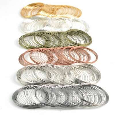 100 Loops Steel Memory Wire DIY For Jewellery Cuff Bangle Bracelet 0.6x60mm EB