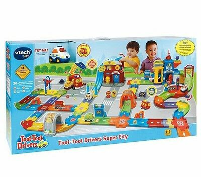 NEW VTech Toot Toot Drivers      SUPER CITY Play Set Educational Toy Cars Track